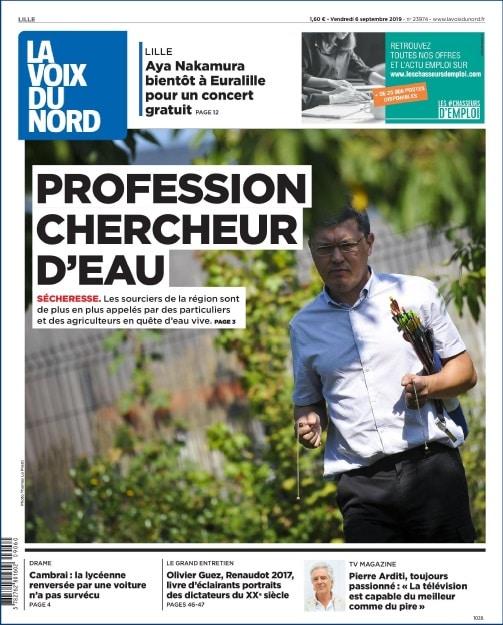 Article Presse Sourcier Voix du Nord Valenicennes